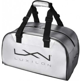 Wilson Luxilon Duffel Bag Silver/Black