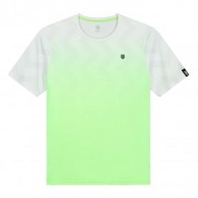 K-Swiss Camiseta Hypercourt Print Crew Green