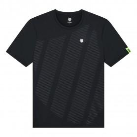 K-Swiss Camiseta Hypercourt Shield Crew Black