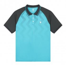 K-Swiss Polo Hypercourt Print Scuba Blue