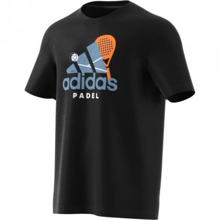 Adidas Camiseta Padel Cat Black
