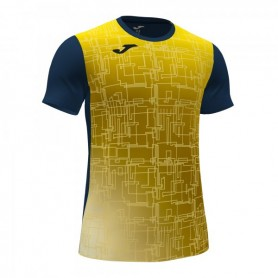 Joma Elite Viii Camiseta Marino Fluor Amarillo