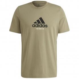 Adidas Camiseta Hombre Graphic Logo Verde