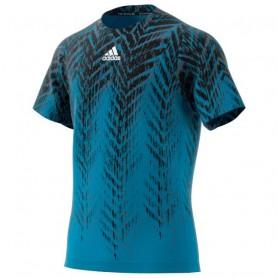 Adidas Camiseta Freelift Printed Primeblue Azul