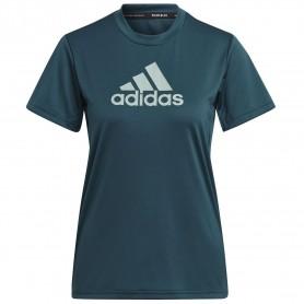 Camiseta Adidas Primeblue Designed 2 Move Logo Sport Mujer Verde