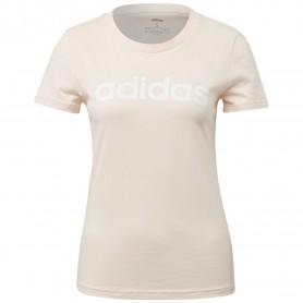 Camiseta Adidas Essentials Linear Mujer Rosa