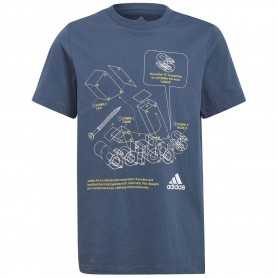 Adidas Camiseta Tech Sports Graphic Azul