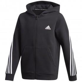 Adidas Sudadera Doubleknit Full-Zip 3 Bandas Negro