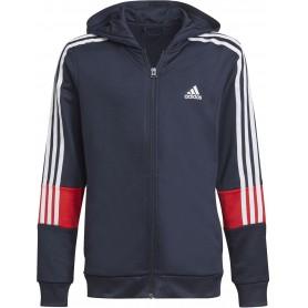 Adidas Chaqueta Con Capucha Aeroready Primeblue 3 Bandas Azul