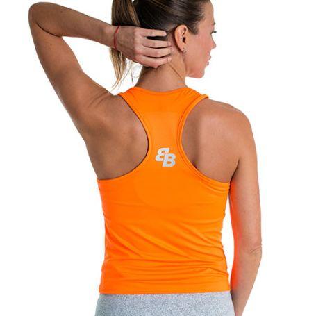 Camsieta Basica Bb Naranja Fluor Mujer Naranja Fluor