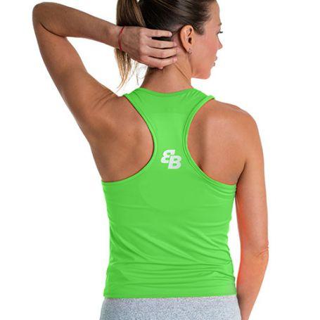 Camsieta Basica Bb Pico Lime Green Mujer Verde