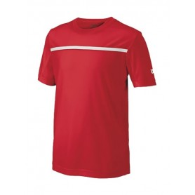 TEXTIL CAMISETA WILSON B TEAM CREW JUNIOR ROJA