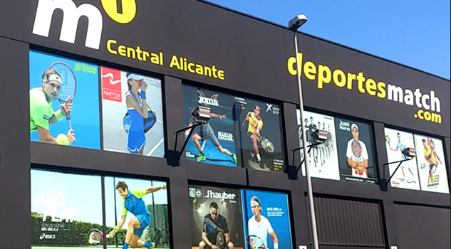 M1 Central Alicante - Almacen central de Deportes Match y M1FRONTENIS